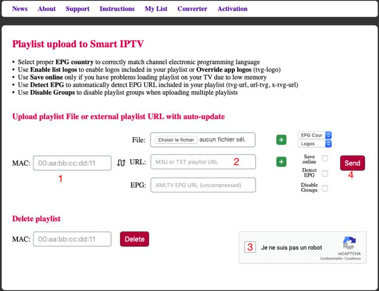 IPTV SMART PLAYLIST UPLOAD